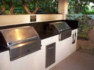 One of the two separate Charcoal Barbeque Grilling areas at the Somerset.