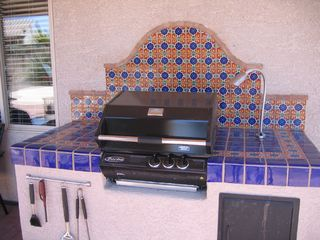 Tucson house photo - B.B.Q. area with gas grill
