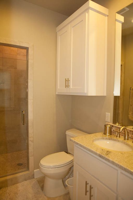 Spacious master bath, custom built-in cabinets throughout the house