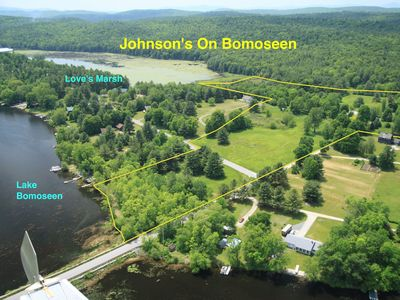 Our 22.6 acre waterfront property w/ 300' on Lake Bomoseen & 715' on Loves Marsh