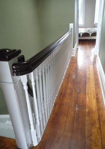 Original hardwood floors and stairs