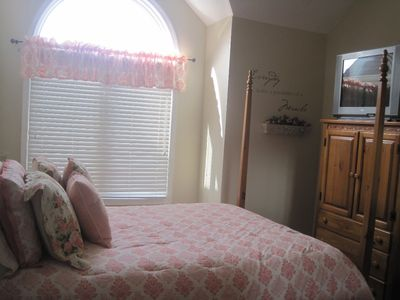 Sevierville condo rental - Master bedroom with river view