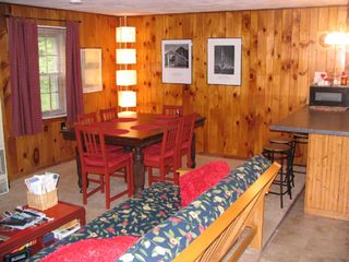 West Wardsboro house photo - ample dining table area - guest house
