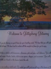 Gettysburg house photo - The book of restaurant and activity ideas to assist you during your stay.