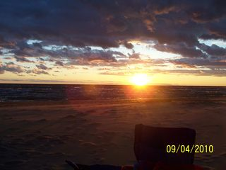 Pentwater cottage photo - Sunset on Beautiful Lake Michigan