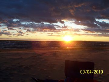 Sunset on Beautiful Lake Michigan