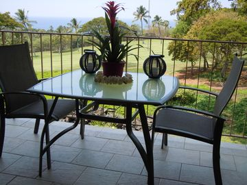 Eat your meals outside on new comfortable lanai furniture.