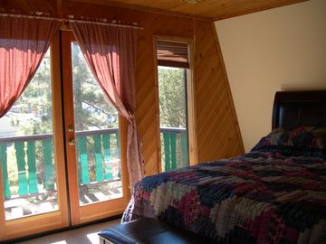 Master bedroom - comfort, with a beautiful view!