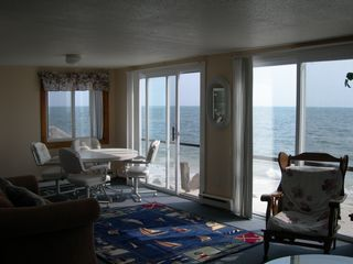 Yarmouth house photo - Our 4BR oceanfront home, triple sliders overlooking Nantucket Sound list#105982