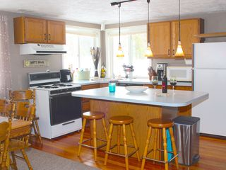 Crystal Mountain, Thompsonville lodge photo - Kitchen A. Plenty of room to enjoy meals and socialize with family and friends.