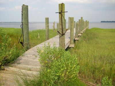 Morehead City cabin rental - Crystal Coast Cabin - Pier