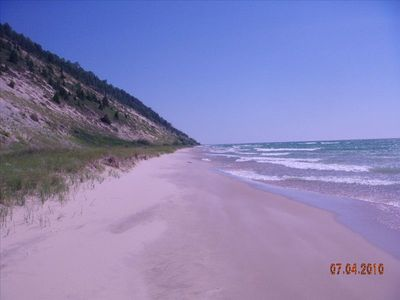 Miles of private Lake Michigan Beach, untouched.