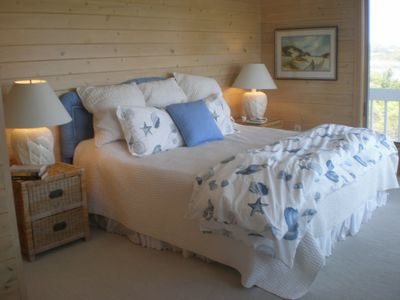 Master Bedroom - Its private balcony has expansive views of Block Island Sound.