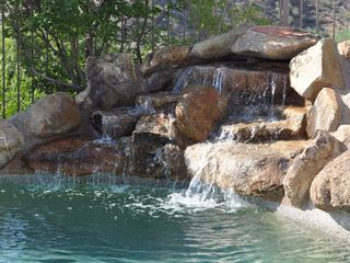 Scottsdale Troon house photo - Close up of the pool's waterfall - great for relaxing by the tranquil sounds!