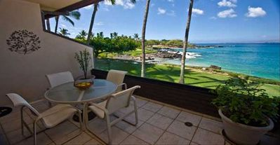 Makena Surf F202 Relax On Your Private Lanai with Ocean Front Views