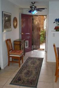 Door to patio and laundry room.