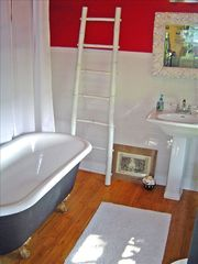 Kingston cottage photo - Designer Bathroom and Vintage Clawfoot Tub