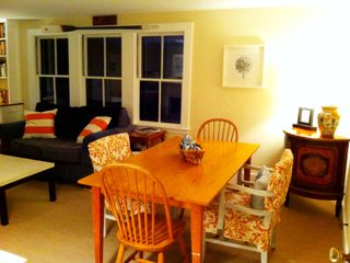 Marblehead apartment photo - Table convenient for eating, reading, organizing, writing etc.