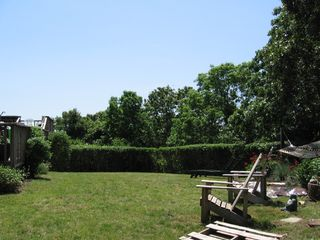Front Yard, Ocean view over hedges - Montauk house vacation rental photo