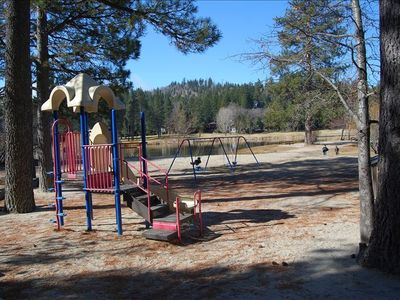Take a walk to Grass Valley Lake where the kids can play & feed the ducks.