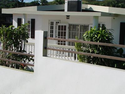 Vieques Island house rental - Front of House Wall and Gate