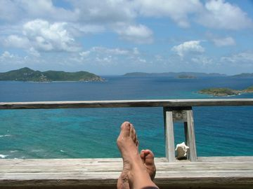 ahhh-relaxing views of the BVI