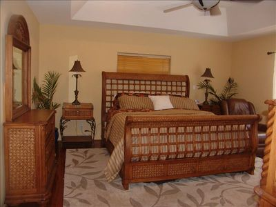 Master Bedroom with firm pillow top mattress and full bathroom with jacuzzi tub.