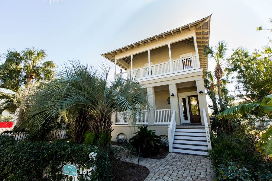 Calypso cottage 4 br 3 ba house in desitn vrbo for 9 bedroom rental destin florida