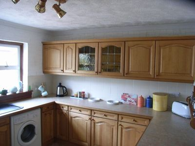 the large kitchen of Daisy cottage