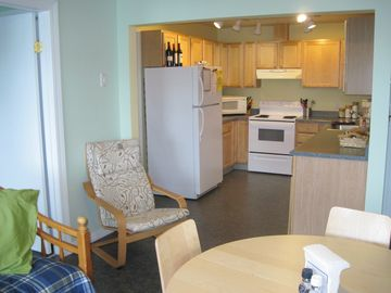 Suite C - Waterfront - kitchen - Bedrooms on left - Bathrooms on right.