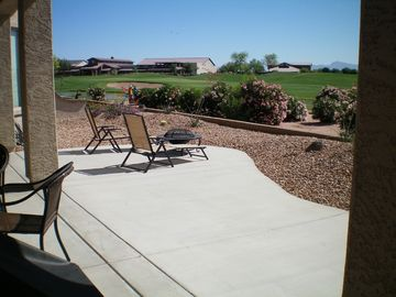 Gilbert house rental - View of golf course & San Tan Club from Patio