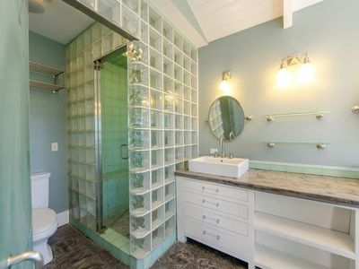 Glass Enclosures, His & Her Bath, Steam shower in Master Bath