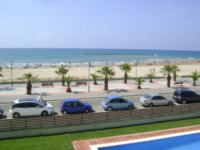 Near Sitges, Sea, First line beach, swimming pool, A. C.