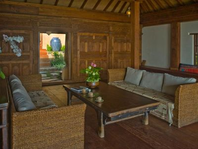 Laem Set beach estate rental - Samudra Bali Temple to Pool
