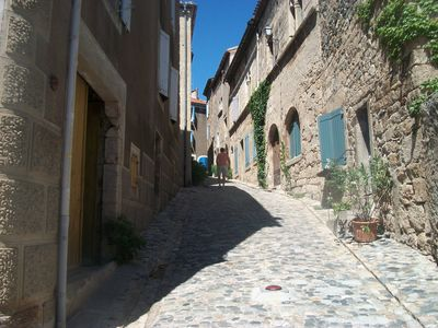 One of the winding streets in Caunes