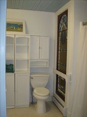 Branford bungalow photo - new bathroom \antique window