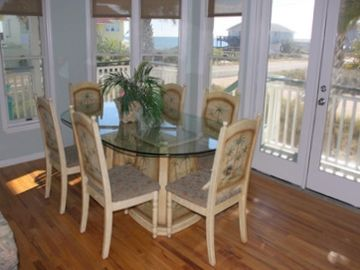 Dining Table with Beach Views. Located between kitchen and LR.