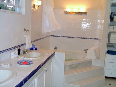 Atlantic Shores villa rental - Master Suite Bathroom - It's Like having a spa without leaving home.