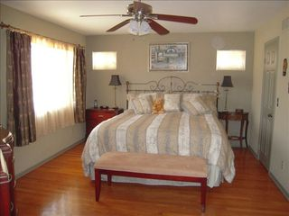 Coronado house photo - Upstairs Master Suite with King Bed, Attached Bath and Large Walk-in Closet
