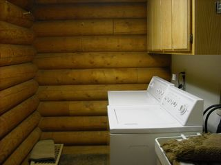 Big Bear Lake cabin photo - Laundry Room - Large capacity washer/dryer - Sink Basin - Off Guest Bathroom