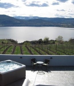 Okanagan Centre house rental - Hot tub and spectacular view
