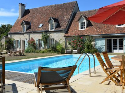 Family house with 7 bedrooms Tennis / pool near the golf bellême