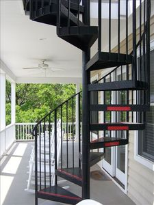 Spiral Staircase to Sun Deck