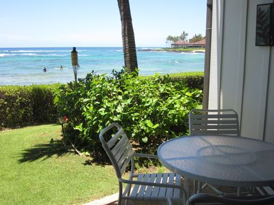 Your view from your chair or chaise louge from Beachhouse #5's Lanai.