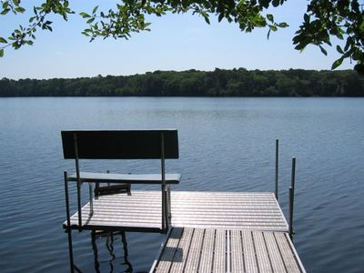 Enjoy the private DOCK at Walker Pond anytime of the day
