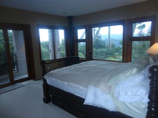 Tiburon house photo - Master suite has sauna, shower/steam room, fireplace, jetted tub with GG views