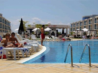 Burgas apartment rental - Main pool area