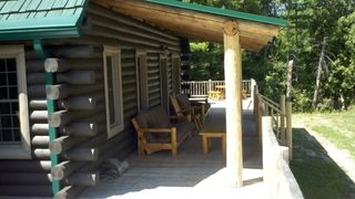 Grayling lodge photo - Southeast corner of porch.
