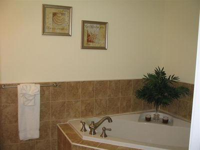 Master bath, with separate shower