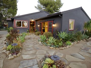 Camarillo house rental - Flagstone path bordered by succulent and native grasses